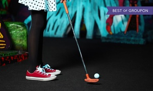 Glowgolf: Three Rounds of Indoor Glow-in-the-Dark Mini Golf and One Laser Maze Challenge at Glowgolf (Up to  56%Off)