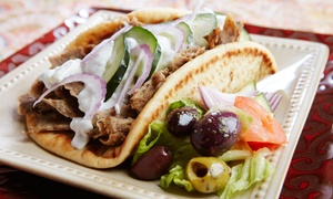 Cafe Med: Two or Four Gyros and Drinks at Cafe Med (40% Off)