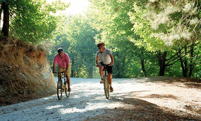 Escursione in bici a scelta tra 2 itinerari fino a 10 persone, nei dintorni della Val d'Itria (sconto fino a 91%)