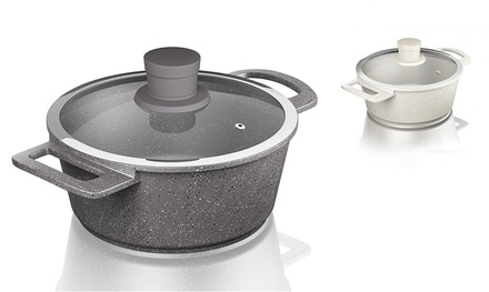 Tower Almond or Grey Die Cast Casserole Pot with NonStick Ceramic Coating