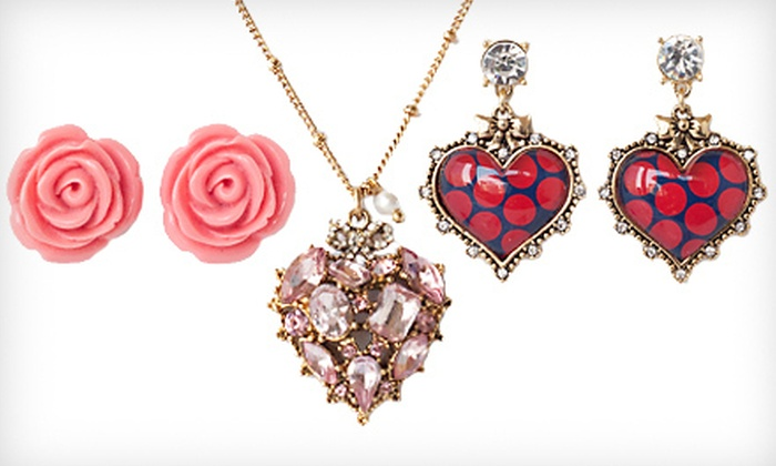 Betsey Johnson Jewelry: Betsey Johnson Earrings and Necklace (Up to 68% Off)
