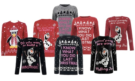Women's Christmas Jumpers in Choice of Style for £8.99