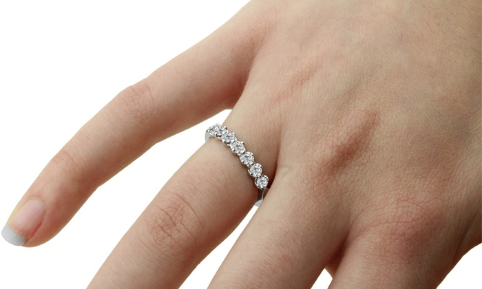 white gold si wedding cut band ring f carat diamond round watch g