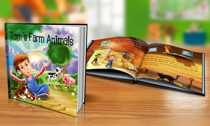 "Dinkleboo: $9 or $14 for Softcover or Hardcover ""Farm Animals"" Personalized Kids Book from Dinkleboo (Up to 65% Off)"