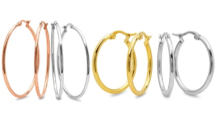 2-Pair Hoop Earrings Set From $11.99–$14.99