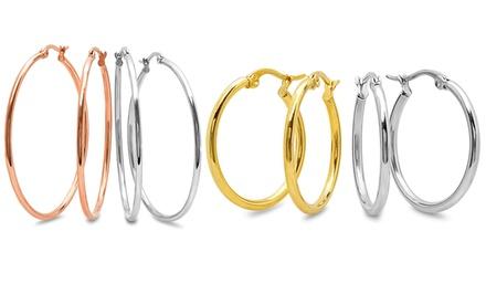 2-Pair Hoop Earrings Set From $11.99–$14.99