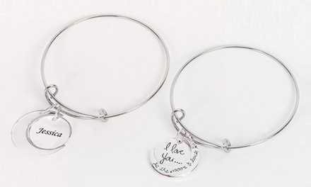 I Love You to the Moon and Back Charm Bracelet for AED 29 (87% Off)