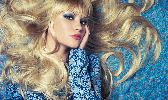 Rebe Belle Salon de Colour - San Buenaventura (Ventura): $59 for a Hairstyling Package with Haircut, Color, and Highlights and Dessert at Rebe Belle Salon de Colour ($165 Value)
