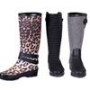 Women's Cloth-Coated Rubber Rain Boots