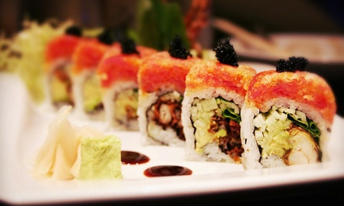 Sushi Factory - Multiple Locations: Japanese Cuisine for Two or Four at Sushi Factory (Up to 40% Off). Two Locations Available.