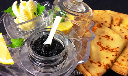 Caviar Tasting with Champagne for Two or Russian Cuisine at Russian House (Up to 43% Off)