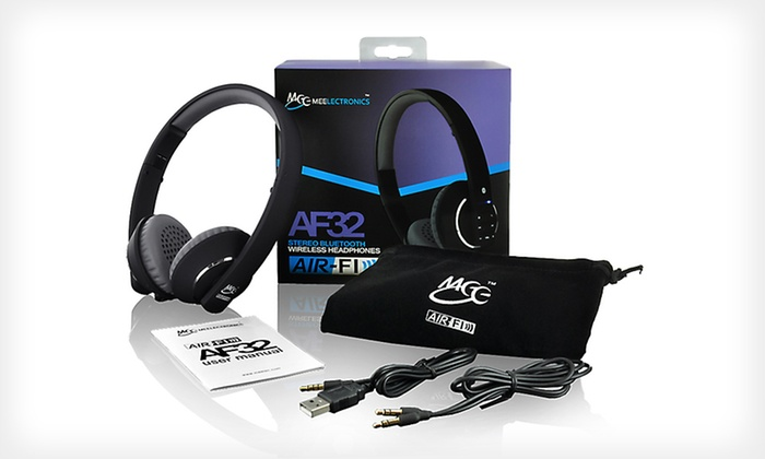 MEElectronics Air Fi AF32 Bluetooth Headphones with Built-in Mic/Remote: $49 for MEElectronics Bluetooth Headphones ($99.99 List Price). Three Colors Available. Free Shipping and Free Returns.