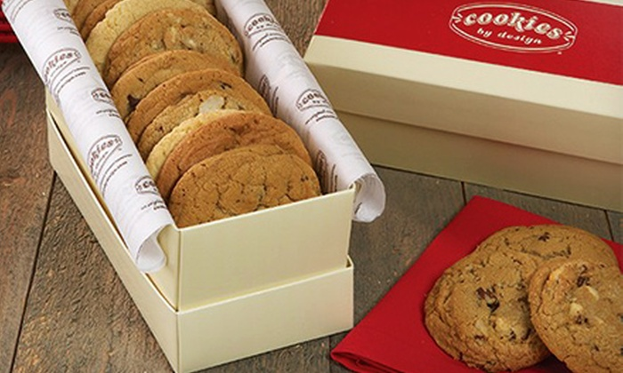 Cookies By Design - Secret Cove: 13-Inch Chocolate-Chip Cookie Cake or One Dozen Gourmet Cookies from Cookies By Design (Up to 55% Off)