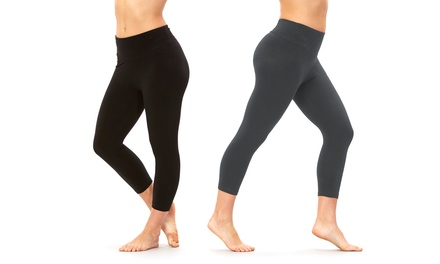 2-Pack of Balance Collection Women's Dry-Wik Capri Leggings