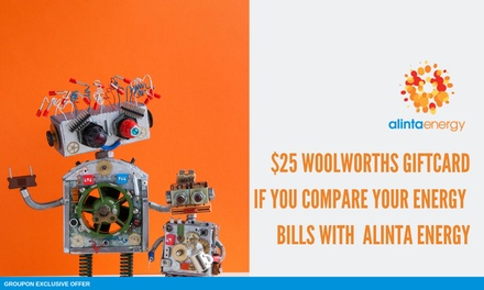 $5 for $25 Woolworths WISH eGift Card When You Compare Your Energy Bills with the Alinta Energy's Offer through econnex