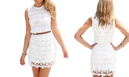 Floral Crochet Summer Dress