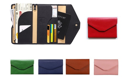 TriFold Passport Travel Wallets in Choice of Colour: One $12.95 or Two $19.95