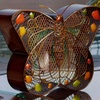 Handcrafted Metal Butterfly Figurine Fan
