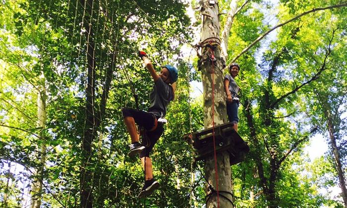 Adventure Creek - Wheeling: Adventure Course for Two Adults, or Two Adults and Two Children at Adventure Creek (Up to 32% Off)