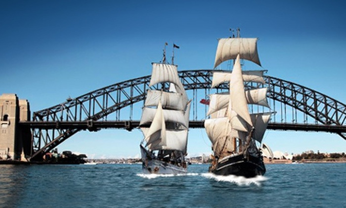 Sydney Harbour Tall Ships: From $59 for a Lunch or Dinner Harbour Cruise with Free-Flowing Drinks with Sydney Harbour Tall Ships (From $121 Value)