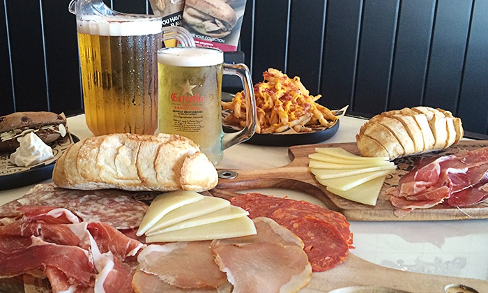 100 Montaditos Brickell - Brickell: Spanish Food and Drinks for Two or Four at 100 Montaditos Brickell (Up to 48% Off ). Four Options Available.
