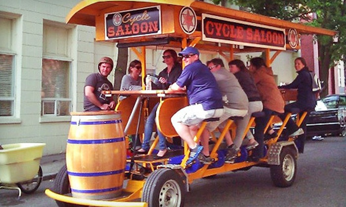 CycleSaloon - Cycle Saloon: Pub-Crawl Ride for Up to 4, 8, or 16 People from CycleSaloon (Up to 65% Off)
