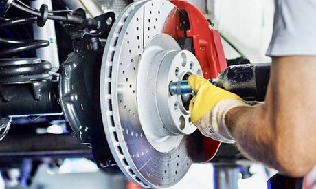 Brake Pad Replacement, Headlight Polish or AC Service for One Vehicle at Midway Auto Repair (Up to 58% Off) photo