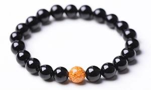 Bracelet en onyx anti-stress