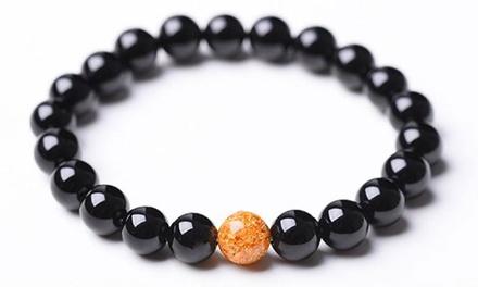1 ou 2 bracelets anti-stress en perles naturelles d'Onyx