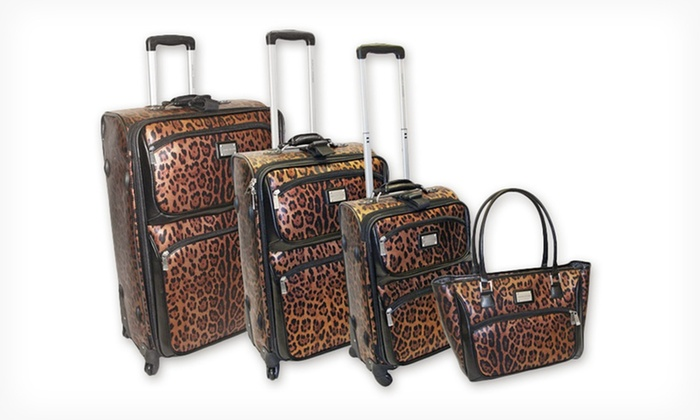 Adrienne Vittadini 4-Piece Luggage Set: $199.99 for a 4-Piece Adrienne Vittadini Luggage Set ($1,320 List Price). 3 Styles Available. Free Shipping.