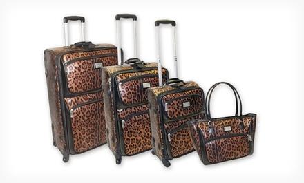 Adrienne Vittadini 4-Piece Luggage Set $199.99 Shipped