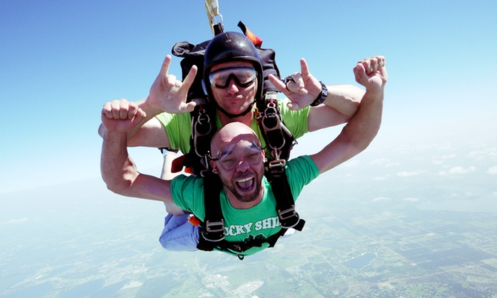 Florida Skydiving Center - Lake Wales: Tandem Skydive for One or Two from 14,000 Feet with T-shirt from Florida Skydiving Center (Up to 43% Off)