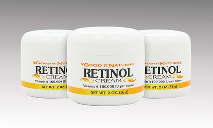 Good 'N Natural Retinol Cream; 3-Pack of 2oz. Jars