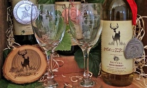 White Tail Run Winery: Wine Tasting and Private Winery Tour with Engraved Wine Glasses for Two or Four at White Tail Run Winery (Up to 56% Off)