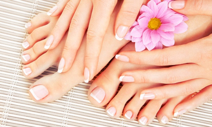 Etheria Day Spa - Fort Walton Beach: Manicure with Gel Polish or SunKissed Mani-Pedi at Etheria Day Spa (Up to 51% Off)