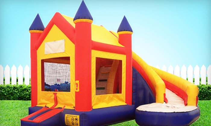 Bouncin Bins - Boise: Eight-Hour Bounce-House Slide Combo Rental or Giant-Inflatable-Slide Rental from Bouncin Bins (Up to 60% Off)