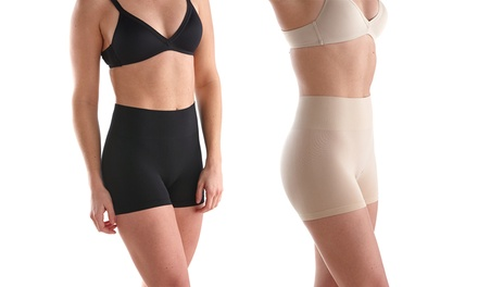 Women's Sociology High-Waisted Shaper Shorts (2-Pack)   Groupon Exclusive