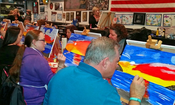 All Things FabUlous - Hampton Roads: Eat, Drink, and Paint Night for Two or Four from All Things FabUlous (Up to 51% Off)