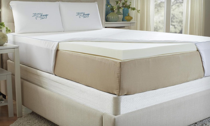 Nature's Sleep Memory-Foam Mattress Toppers: Nature's Sleep HD Visco Memory-Foam Mattress Topper with Cover (Up to 68% Off). Multiple Sizes Available. Free Shipping.