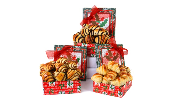 3-Tier Rugelach Holiday Gift Boxes: 3-Tier Rugelach Holiday Gift Box