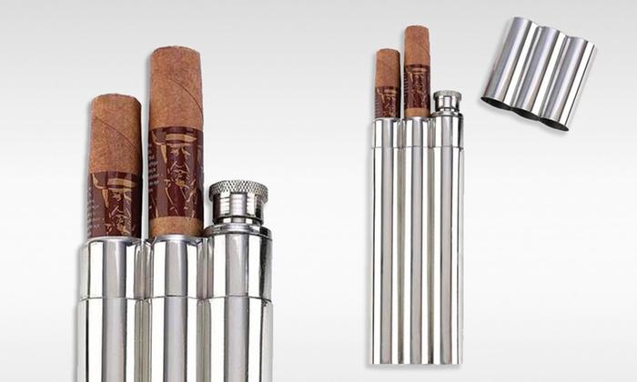 Cigar Holder with Built-In Flask: Cigar Holder with Built-In Flask. Free Returns.