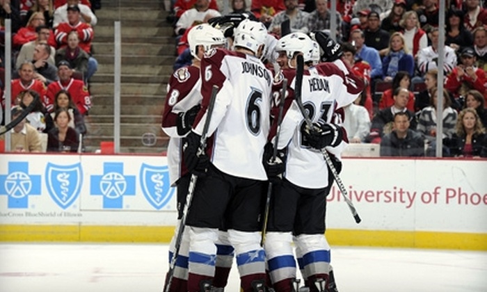 Colorado Avalanche vs St. Louis Blues - Auraria: Colorado Avalanche Game with Souvenir T-shirt at Pepsi Center on February 20 (Up to 59% Off). Two Options Available.