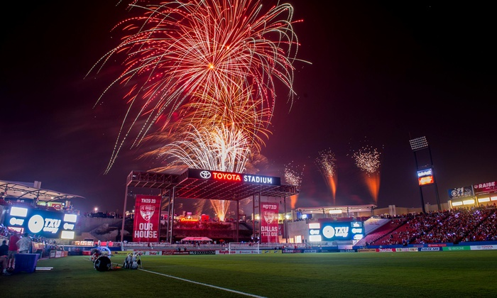 FC Dallas - Toyota Stadium: FC Dallas MLS Match Including On-Field Experience, Food Voucher, and Post-Match Fireworks on August 22 (Up to 60% Off)