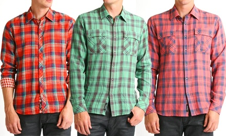 Civil Society Men's Woven Long-Sleeve Button-Up Shirts. Multiple Styles Available. Free Returns.