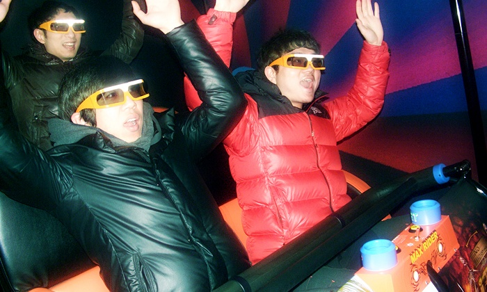 """Maxrider - Crossgates Mall: """"4D"""" Simulator Adventure for Up to Four at Maxrider (Up to 62% Off). Three Options Available."""