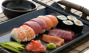 Sakesan Sushi & Bistro: $12 for $30 Worth of Sushi and Japanese Cuisine for Dinner for Two at Sakesan Sushi & Bistro