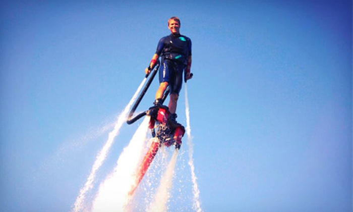 Ayers Extreme Water Sports - Livingston: 30-Minute Flyboard Ride, 30-Minute Jetovator Flying-Bike Ride, or Both from Ayers Extreme Water Sports (Up to 63% Off)
