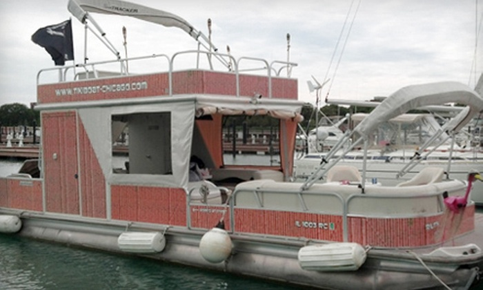 Tiki Boat Chicago - Lakeview: $349 for a Three-Hour Weekday Tiki-Boat Cruise from Tiki Boat Chicago ($705 Value)