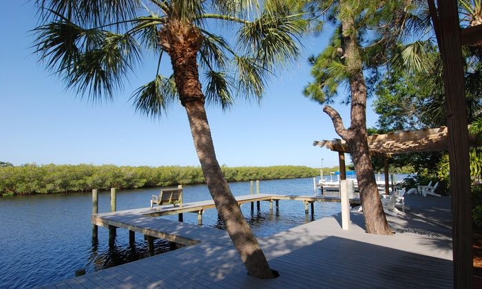 Pirates Pointe Resort - Tampa Bay, FL: Two-Night Stay and Fishing-Charter Credit at Pirates Pointe Resort (Up to 57% Off). Two Options Available.
