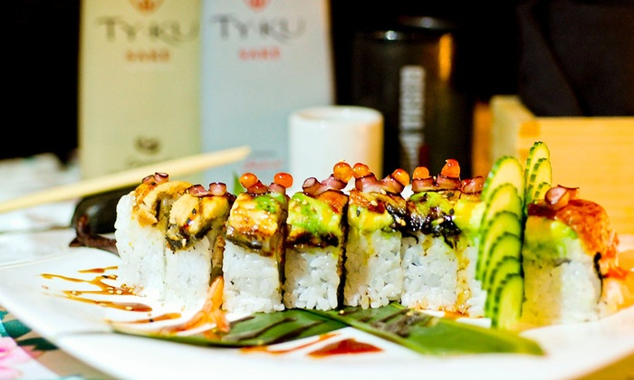 Geisha House Steak & Sushi* - Spring Valley: $30 for Two Sushi Rolls and One Bottle of Sake at Geisha House Steak & Sushi (Up to $49.90 Total Value)
